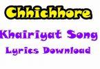 Khairiyat Song Lyrics