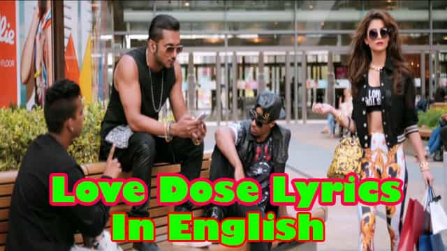 Love Dose Lyrics In English