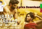 Aabaad Barbaad Lyrics Download