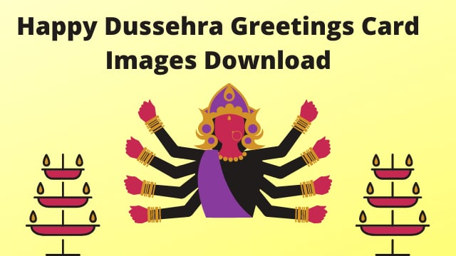 Happy Dussehra Greetings Card Images Download