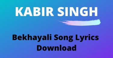 Bekhayali Song Lyrics Download