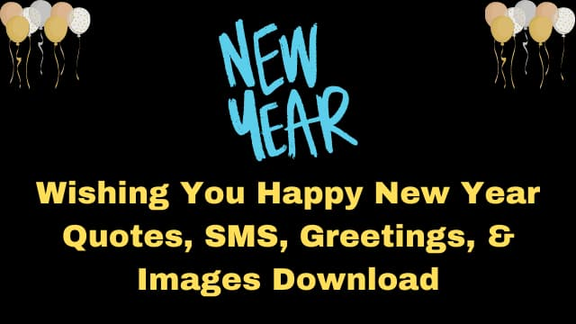 Wishing You Happy New Year 2021