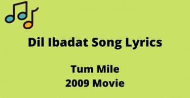Dil Ibadat Lyrics In English